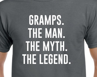 Funny Gramps Gift-Gramps The Man the Myth-Gramps Tshirt Fathers Day Gift