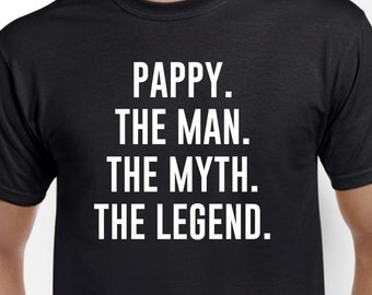 Funny Pappy Gift-Pappy The Man the Myth-Pappy Tshirt Fathers Day Gift
