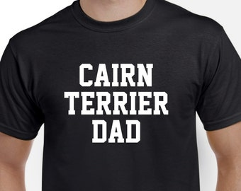 Cairn Terrier Dad Shirt Tshirt Gift