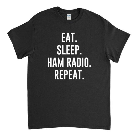 Eat Sleep HAM RADIO Repeat Hoodie Or Sweater Birthday Christmas Fathers Day