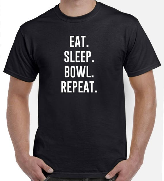 Eat Sleep Bowl Repeat T Shirt Bowling Player Gift All Colours Tee Womens T-Shirt