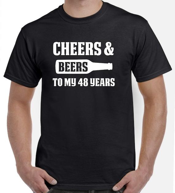 48e Verjaardag Cadeau Cheers En Bieren Tot Mijn 48 Jaar Oude Etsy