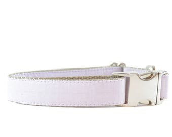 Lilac Lavender Dog Collar - Purple Wedding Occasional Wear Silver or Brass Buckle Dog Collar