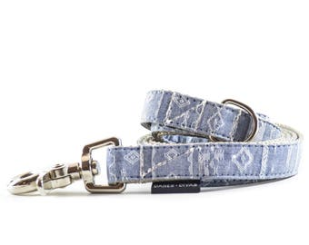 Southwest Chambray Dog Leash - Navajo / Aztec / Southwest Denim Lead