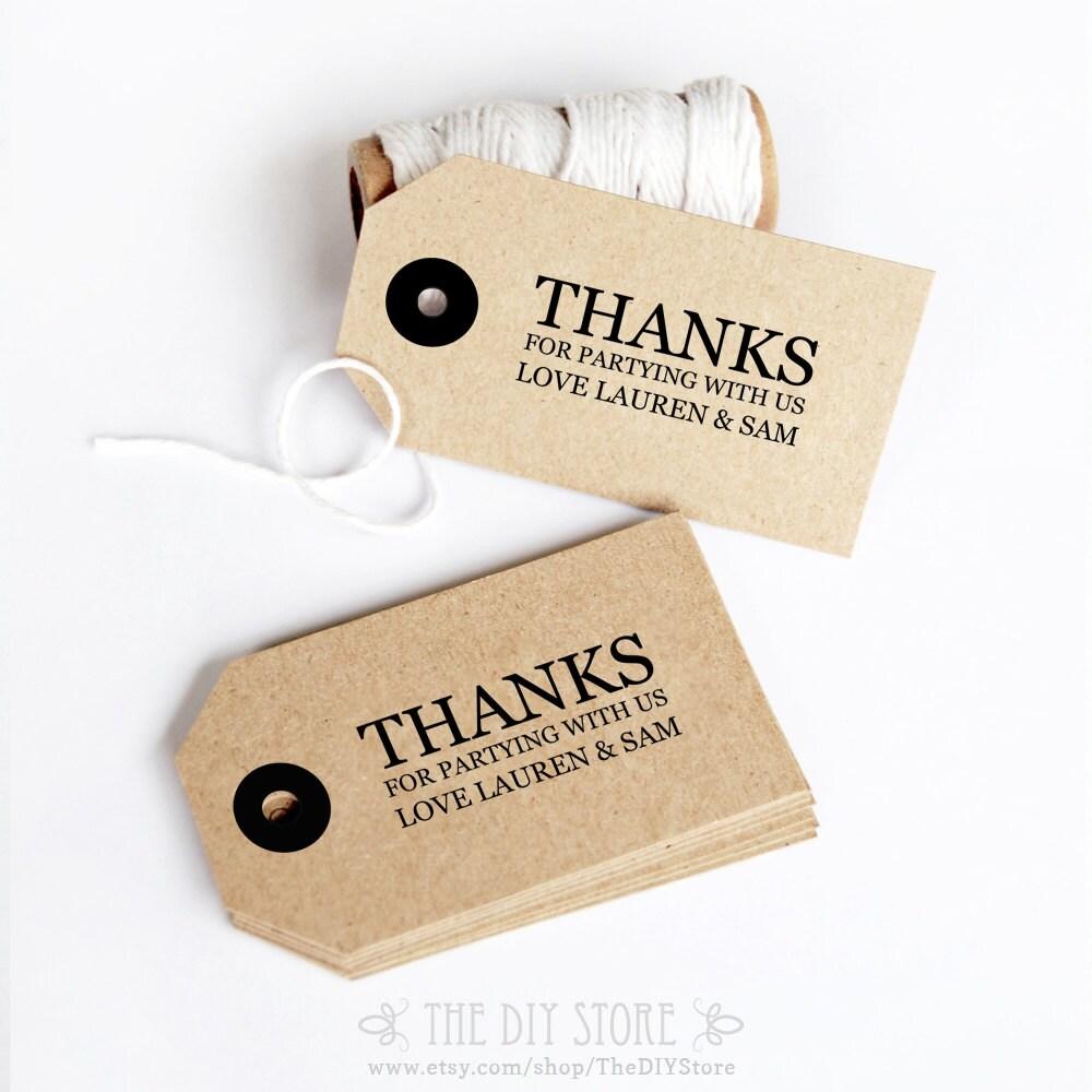 Gift Tag DIY Printable Text Editable Wedding Thank You Tag