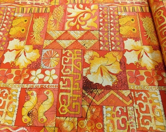 Quilt / Quilting Fabric Hawaiian Prints Tapa Tapestry by Alfred Shaheen for Free Spirit By The Yard Quality Cotton