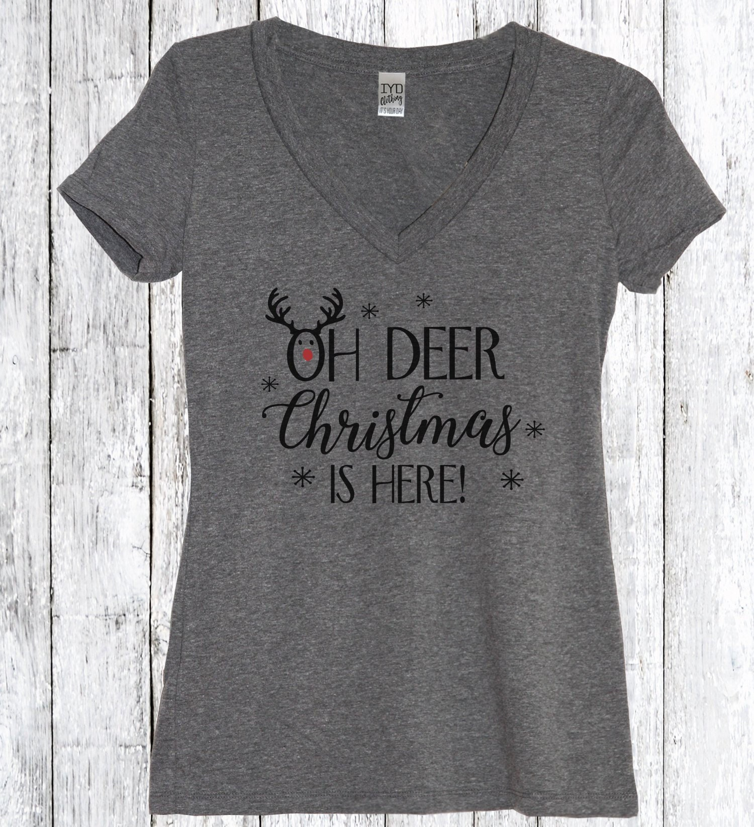 Oh Deer Christmas Is Here Shirt Oh Deer Christmas Tee shirt | Etsy