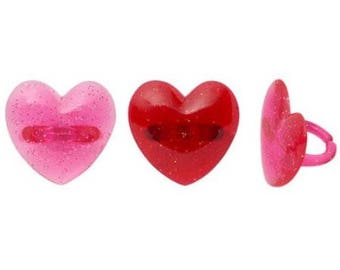 Heart Glitter Rings are an easy finish to your Valentine's Day baked treats.