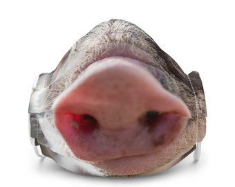Fun Pig Nose Snout Premium Face Mask, Animal Lover Mask, Farm Animal Mask, Piggy Mask, Animal Gift Mask, Pig Lover