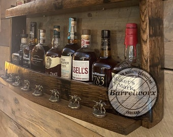 Blantons display/upcycled furniture/drinks cabinet / home bar shelves/whiskey rack/bourbon gifts/bourbon shelves/ whiskey gifts/DISPLAY ONLY