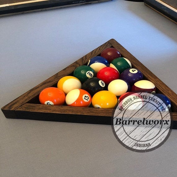 Pool Ball Triangle Whiskey Barrel Wood Cue - How To Mark Out A Pool Table