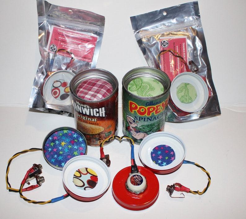 Tin Can Microphone   Pre wired Custom Plug and Play DIY Tin image 0