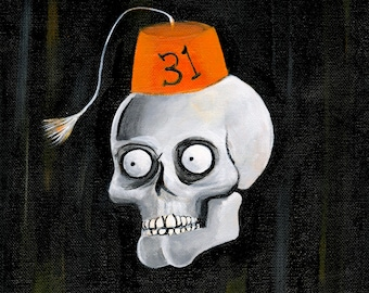 Secret Society of Halloween Fiends: The President (Original Painting)