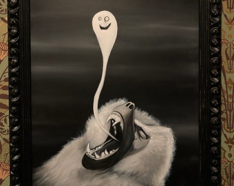 Baboon Exorcism (Original Oil Painting)