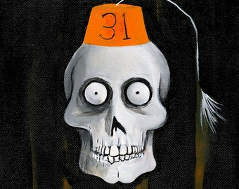 Secret Society of Halloween Fiends: The Vice President President (Original Painting)