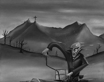 Nosferatu's Rat Rod (Small Giclee Print)