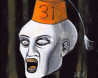 Secret Society of Halloween Fiends: The Secretary - Baby Teeth (Original Painting)