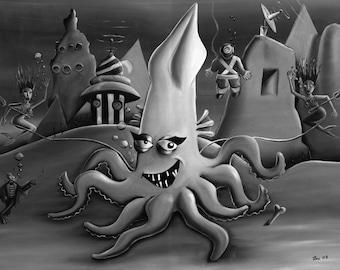 Squid (Fine Art Print)