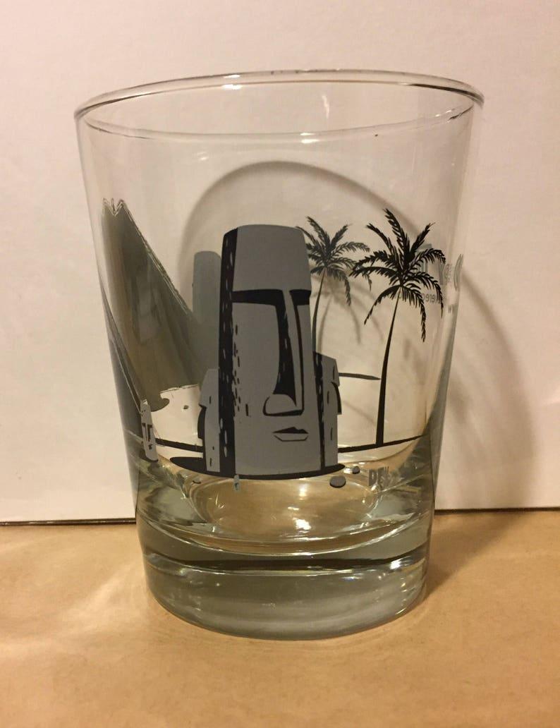 Moai Tai Creepy Tiki Glass image 0