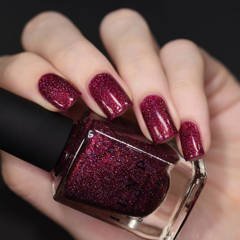 Rogue - Glowing Crimson Holographic Nail Polish