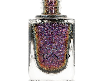 Phoenix (H) - Gold, Orange, Pink, Purple, Red Holographic Ultra Chrome Color Shifting Flakie Nail Polish