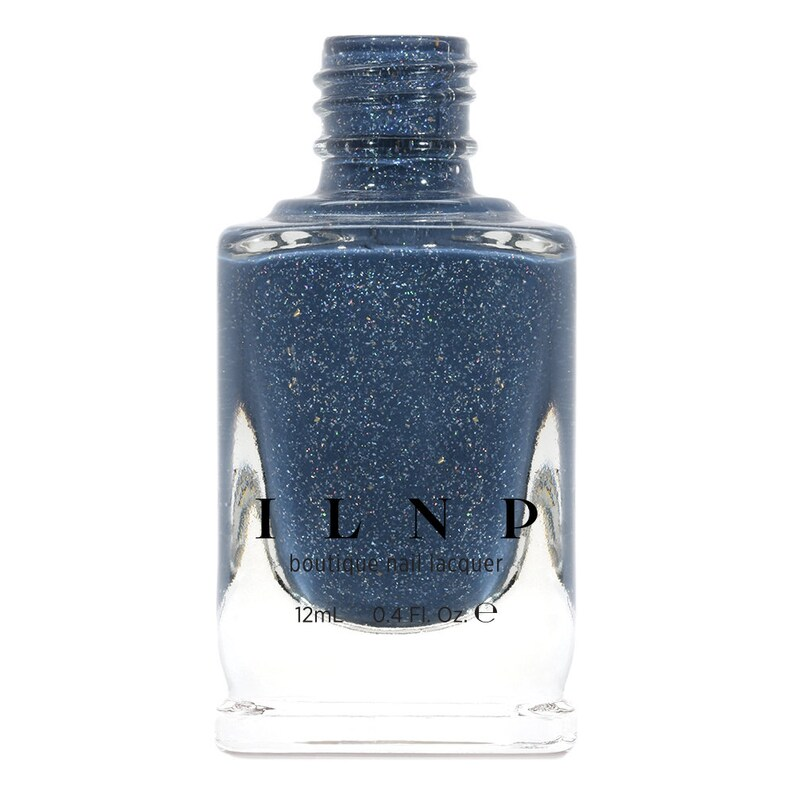 Better Days  Muted Midnight Blue Holographic Nail Polish image 0