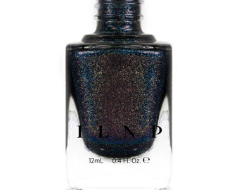 Black Magic - Deep Black Holographic Nail Polish