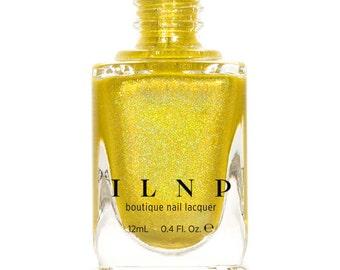 Funshine Smoothie - Bright Yellow & Gold Holographic Nail Polish