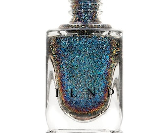Ice House (H) - Blue, Teal, Purple Holographic Ultra Chrome Color Shifting Flakie Nail Polish