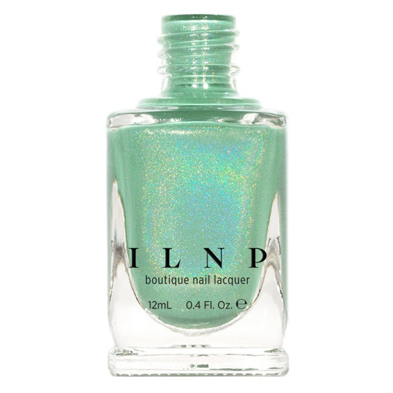 Princeton  Refined Mint Green Holographic Nail Polish image 0