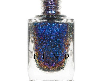 Atlantis -  Blue, Orange, Purple, Red Ultra Chrome Color Shifting Flakie Nail Polish