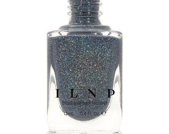 Industrial Park - Neutral Denim Blue Holographic Sheer Jelly Nail Polish
