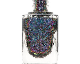 Paradox (H) - Teal, Blue, Violet, Pink, Fuchsia Holographic Ultra Chrome Color Shifting Flakie Nail Polish