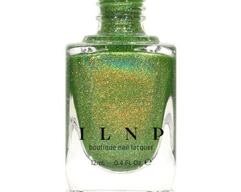 1UP - Vivid Lime Green Holographic Nail Polish