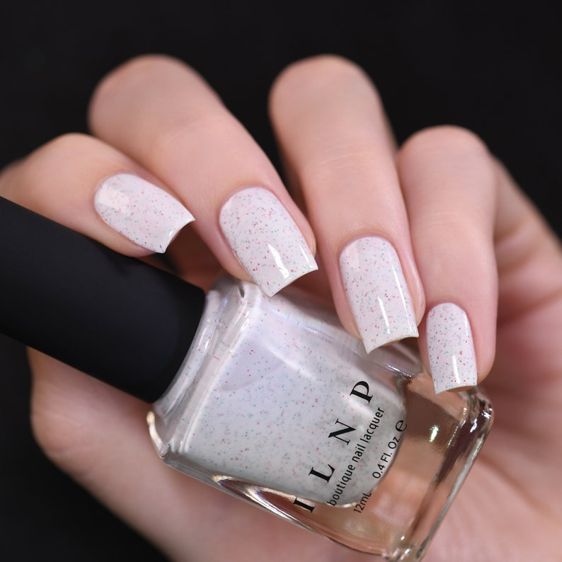 Christmas Cookie  Creamy White Speckled Nail Polish image 1