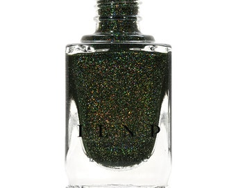 Ski Lodge - Deep Mossy Green Holographic Nail Polish