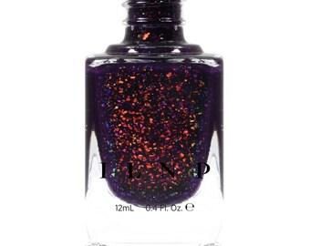 Jinx - Deep Purple Jelly Shimmer Nail Polish