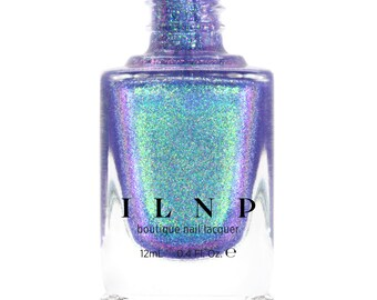 Drive-In - Iridescent Deep Purple Holographic Jelly Nail Polish