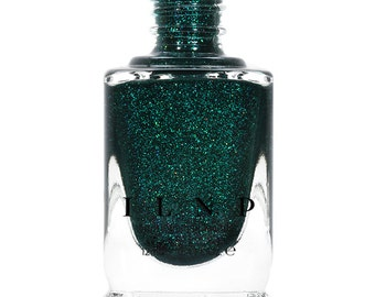 Fir Coat - Sultry Emerald Green Holographic Nail Polish