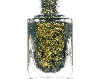 Rapture -  Gold, Silver, Blue Ultra Chrome Color Shifting Flakie Nail Polish