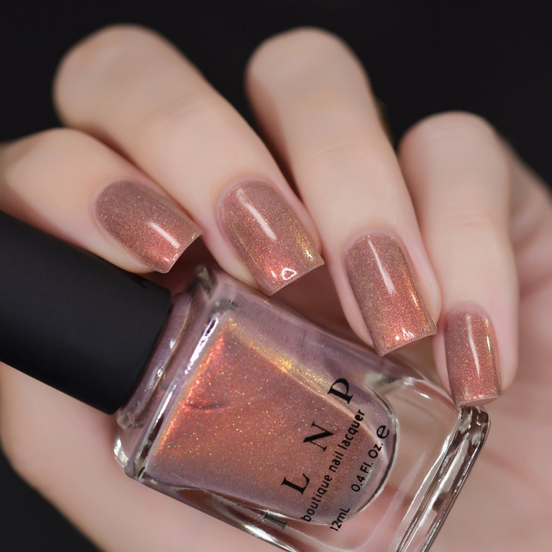 Quicksand Refined Warm Taupe Holographic Nail Polish Etsy