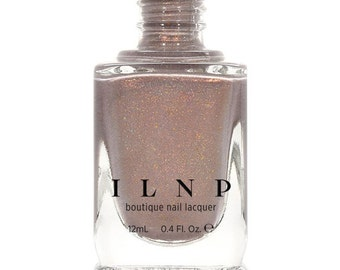 Long Walks - Shimmery Taupe Holographic Nail Polish