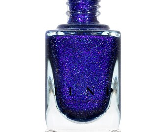 Downpour - Bold Indigo Blue Holographic Nail Polish