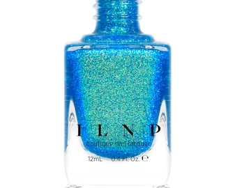 Blue Lagoon - Shimmering Teal Holographic Jelly Nail Polish