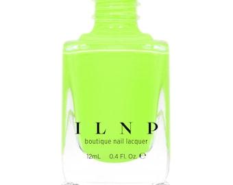 Playlist - Glowing Neon Lime Cream Nail Polish