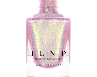 Opal Sunset - Opalescent Pink Holographic Jelly Nail Polish