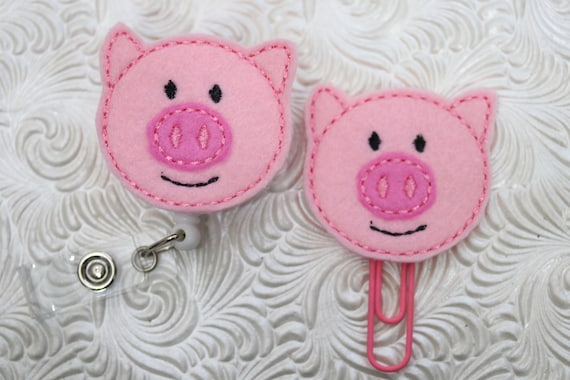 Peggy pig ID holder - traction de badge - porte - sans aucun doute vous - attache badge badge à bobine - porte badge - papier - planificateur