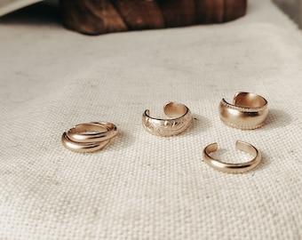 Large thin light hoop earrings 14k gold filled Dainty trendy elegant jewelry Rock Elegance