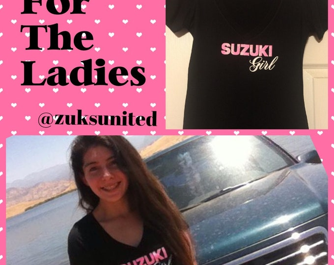 Suzuki Girl Tshirt, Samurai, Sidekick etc,  SM - 2XL