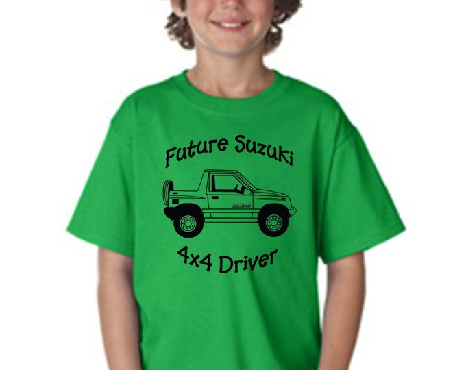 Future Suzuki 4x4 Driver Youth Shirt Suzuki Sidekick
